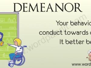 demeanour