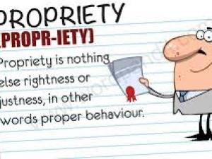 propriety