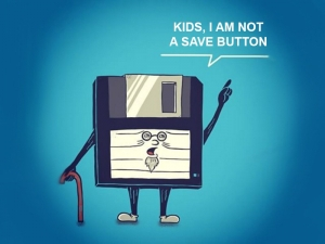 save something to a disk